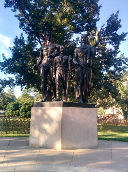 Monument between the Washington Monument and the White House dedicated to the Boy Scout's 50th anniversary, in 1960.