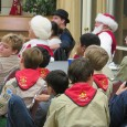 The scouts had their annual holiday party. First there was a concert. Then the gift exchange took place with Cris O. telling stories to the left and right. Lastly the scout were invited by the church to see a surprise performer – a magician!