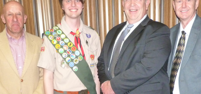 Troop, I am always proud when a 682 Scout earns Eagle; tonight I amproud as a father also! Please join me in congratulating Troop 682's newest Eagle Scout. Daniel Dickson had his Eagle Board of Review this evening and is now officially an Eagle.  Mr Dickson Links: See all Our Eagle Scouts