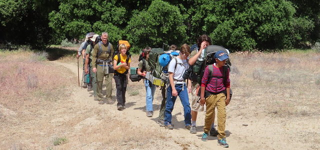 Backpacking on the PCT Agua Caliente Trail section