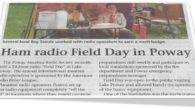 Troop, Today's Poway News Chieftain has an article about the Radio Field Day that a bunch of you attended to get the Radio merit badge. It has a good picture of some of you with one of the radio operators, and it specifically mentions Troop 682. If you're in Poway, look for it! Have a nice 4th and will see […]